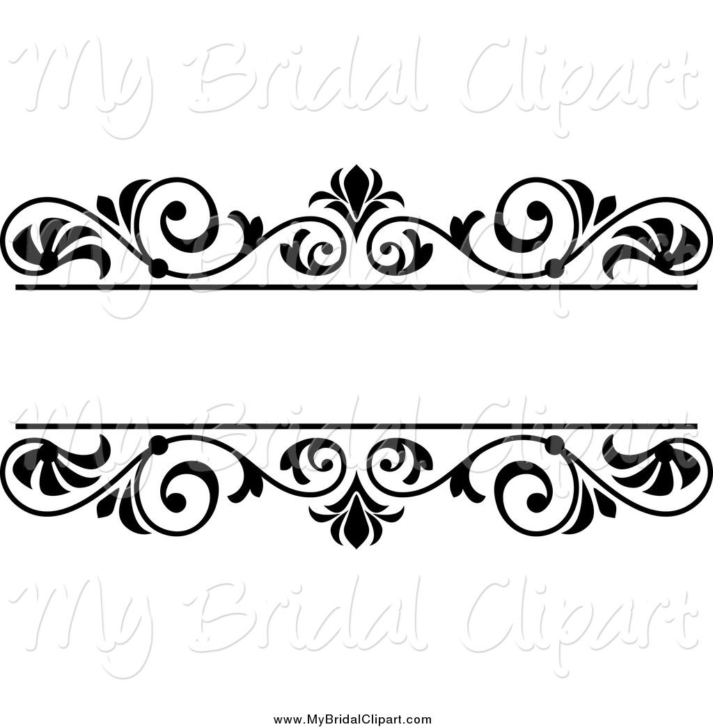 Wedding Clip Art Black And White Border.