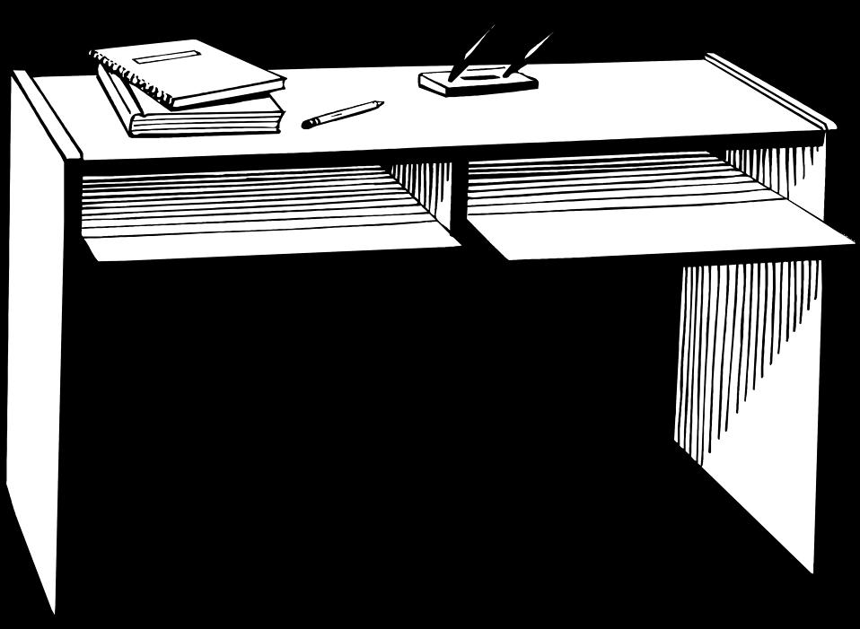 Free Desk Clipart Black And White, Download Free Clip Art.