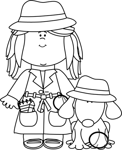 Detective clipart black and white 5 » Clipart Station.