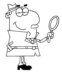 Free Detective Clip Art Black And White, Download Free Clip.