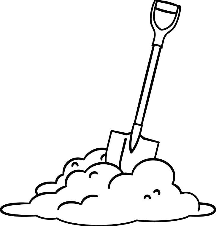 Shovel Digging PNG, Clipart, Artwork, Black, Black And White.