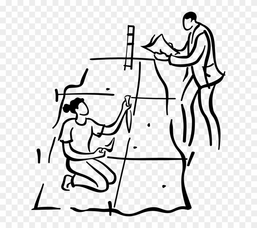 Vector Illustration Of Archaeological Dig With Archeologist.
