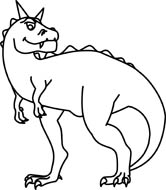 Free Black and White Dinosaurs Outline Clipart.
