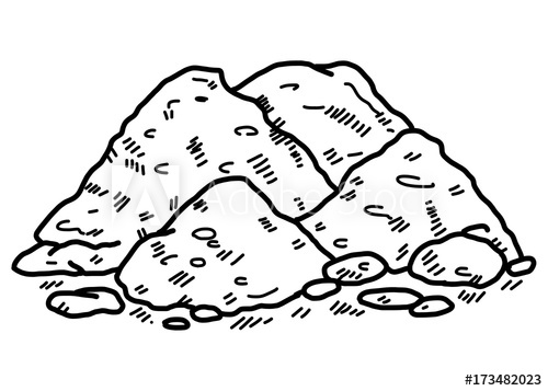 Dirt clipart black and white, Dirt black and white.