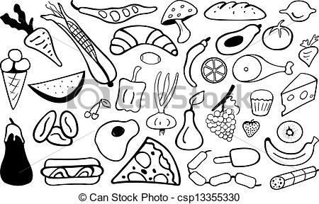 Can Food Clipart Black And White.