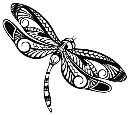 Dragonfly black and white clipart 4 » Clipart Station.