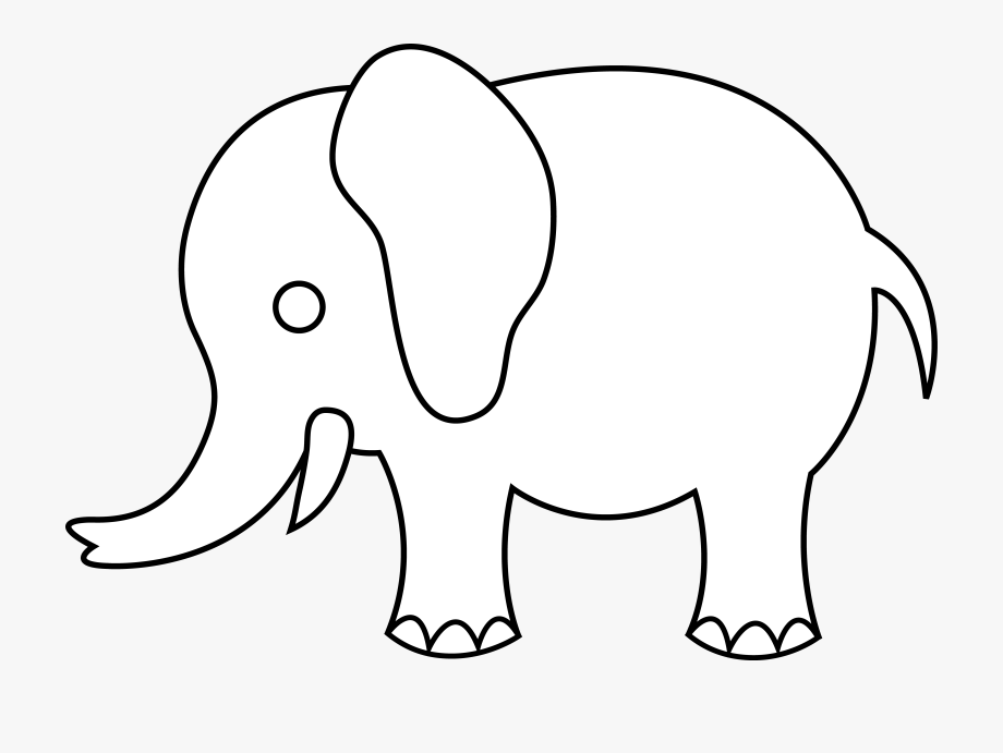 Images For Baby Elephants Clipart Black And White.