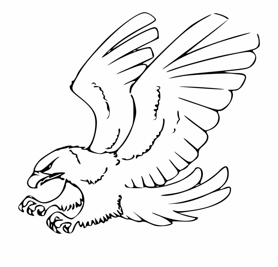 Eagle Black And White Clipart.