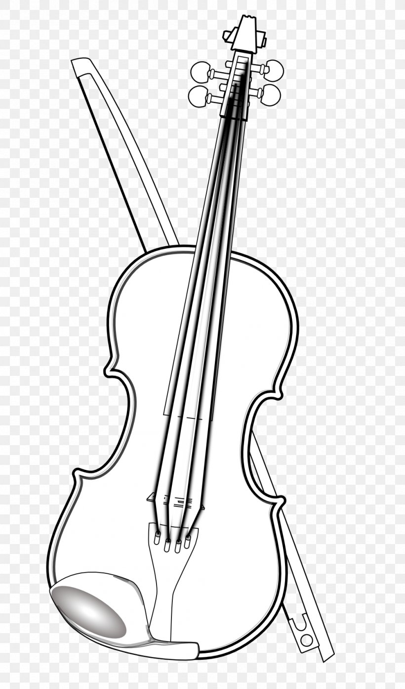 Black And White Drawing Violin Clip Art, PNG, 999x1698px.