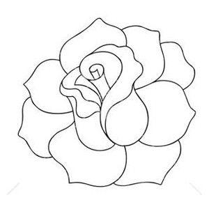 Black And White Rose Clip Art.
