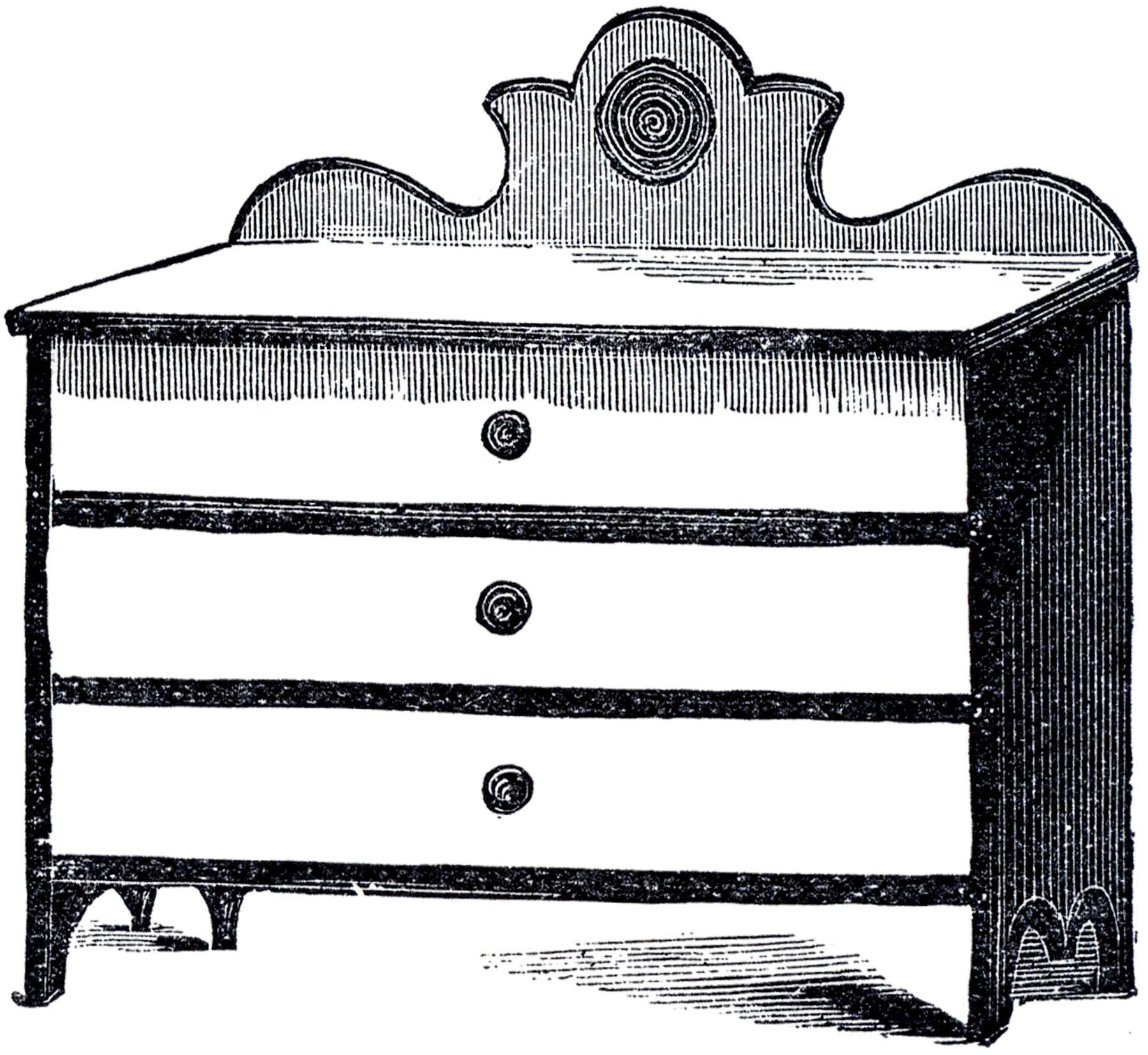 Vintage Cottage Dresser Image.
