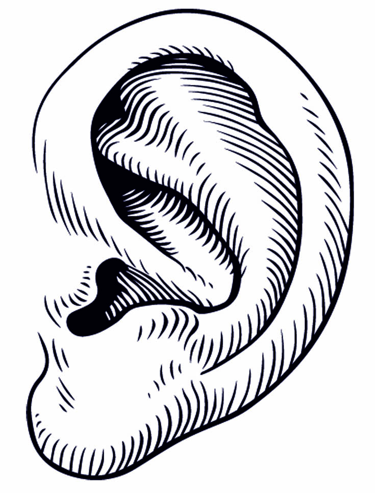 Free Black And White Ear, Download Free Clip Art, Free Clip.
