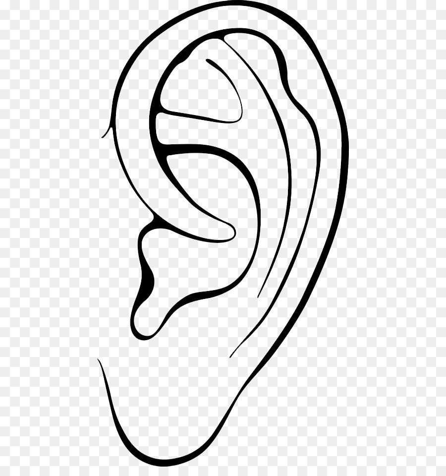 Ears black and white clipart 4 » Clipart Station.