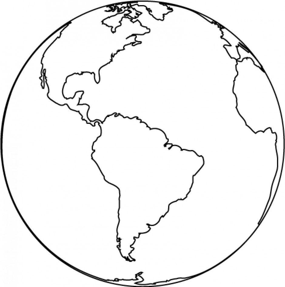 Earth globe clipart black and white free clipart images 2.