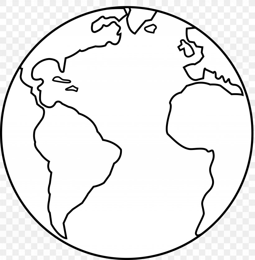 Earth Black And White Clip Art, PNG, 7629x7765px, Watercolor.