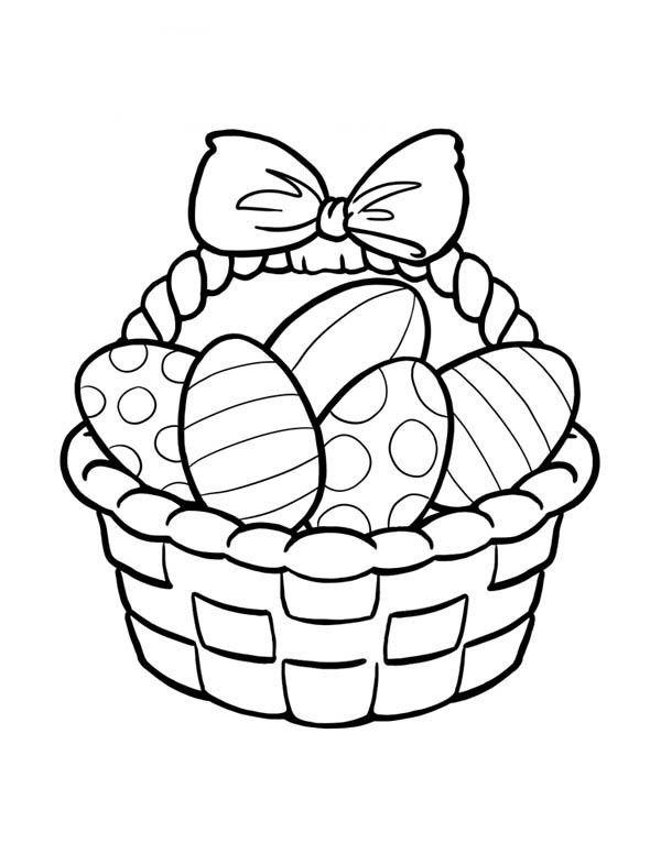 Easter Egg Clip Art Black and White.
