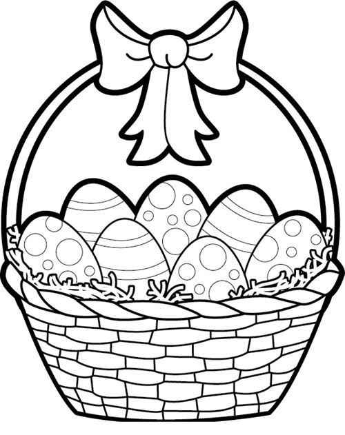 Easter Egg Clipart Black And White Wallpaper.