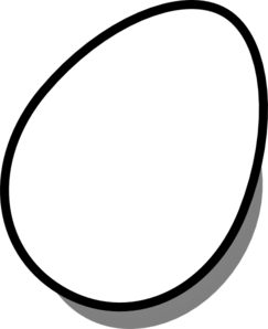 Egg Black And White Clipart.