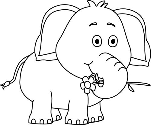 Free Black And White Elephants, Download Free Clip Art, Free.