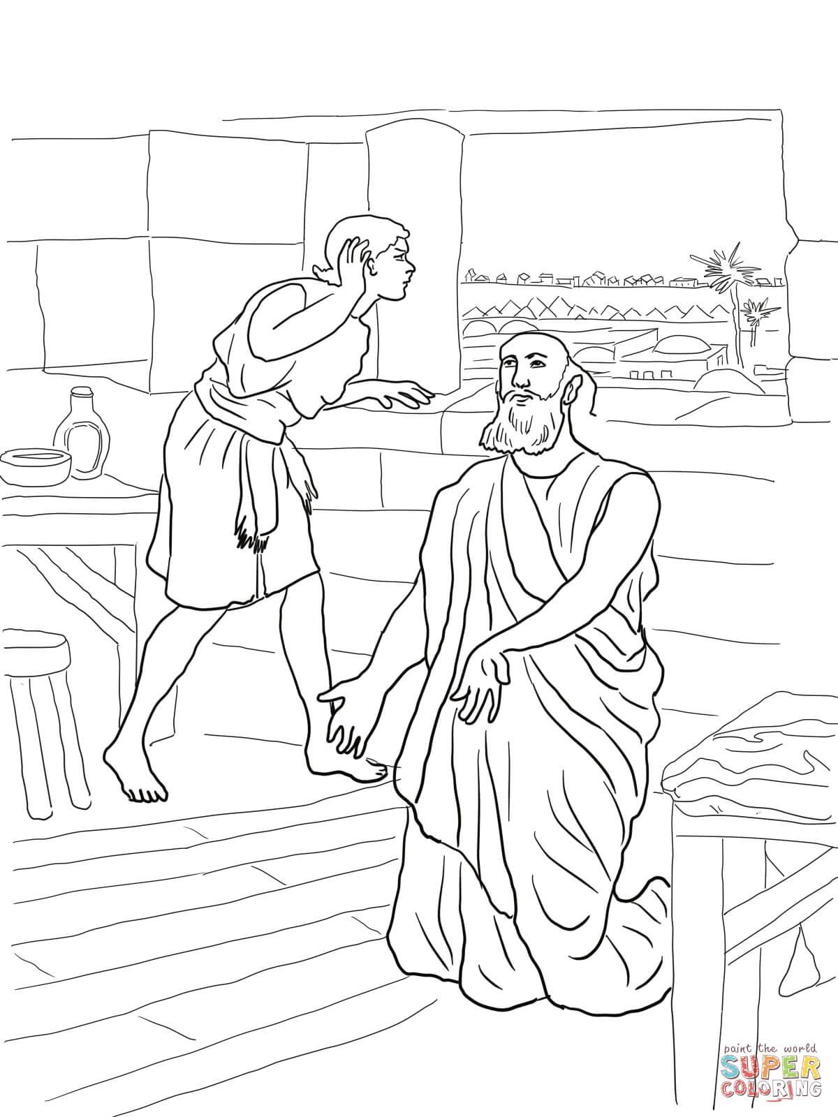 Prophet Elisha coloring pages.