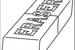 Eraser black and white clipart 1 » Clipart Station.