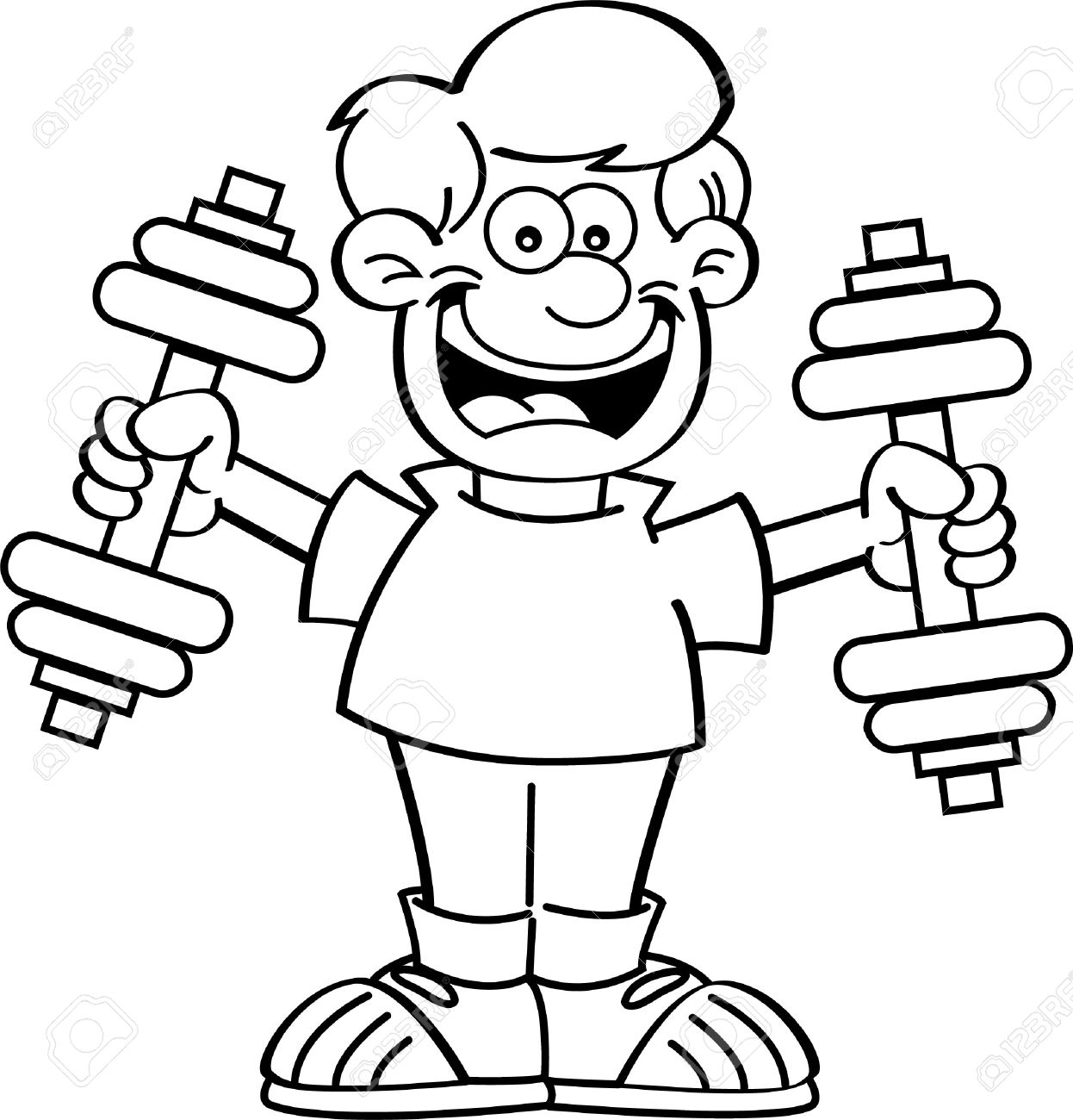 Exercise clipart black and white 5 » Clipart Station.