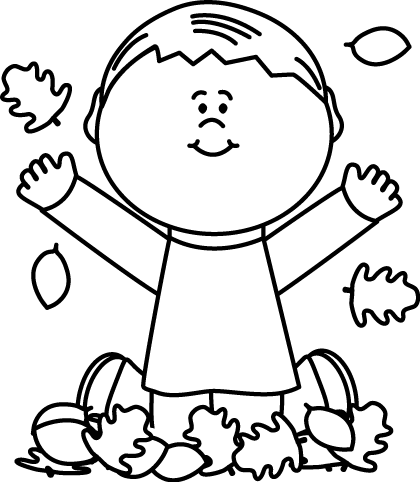 Fall Black And White Clipart.