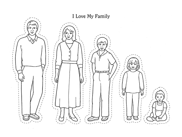 black and white clipart family members 20 free Cliparts ...