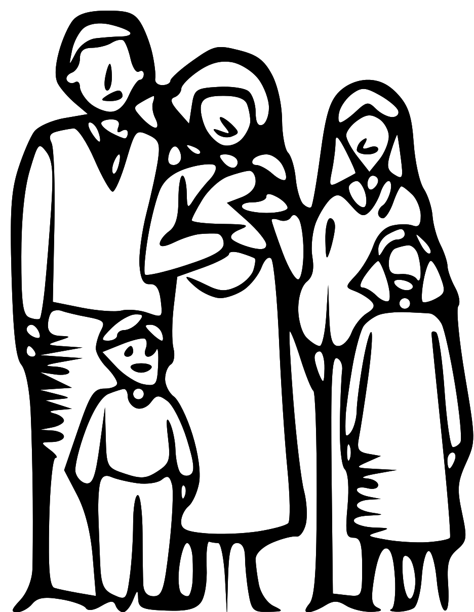 Family Members Clipart Black And White.