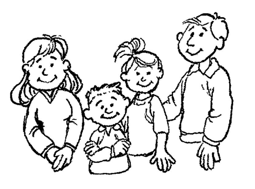 Clipart Of Family Members Black And White.