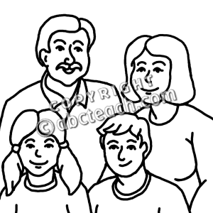 Gallery For > Free Clipart Black and White Family Member.