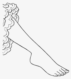Free Foot Black And White Clip Art with No Background.