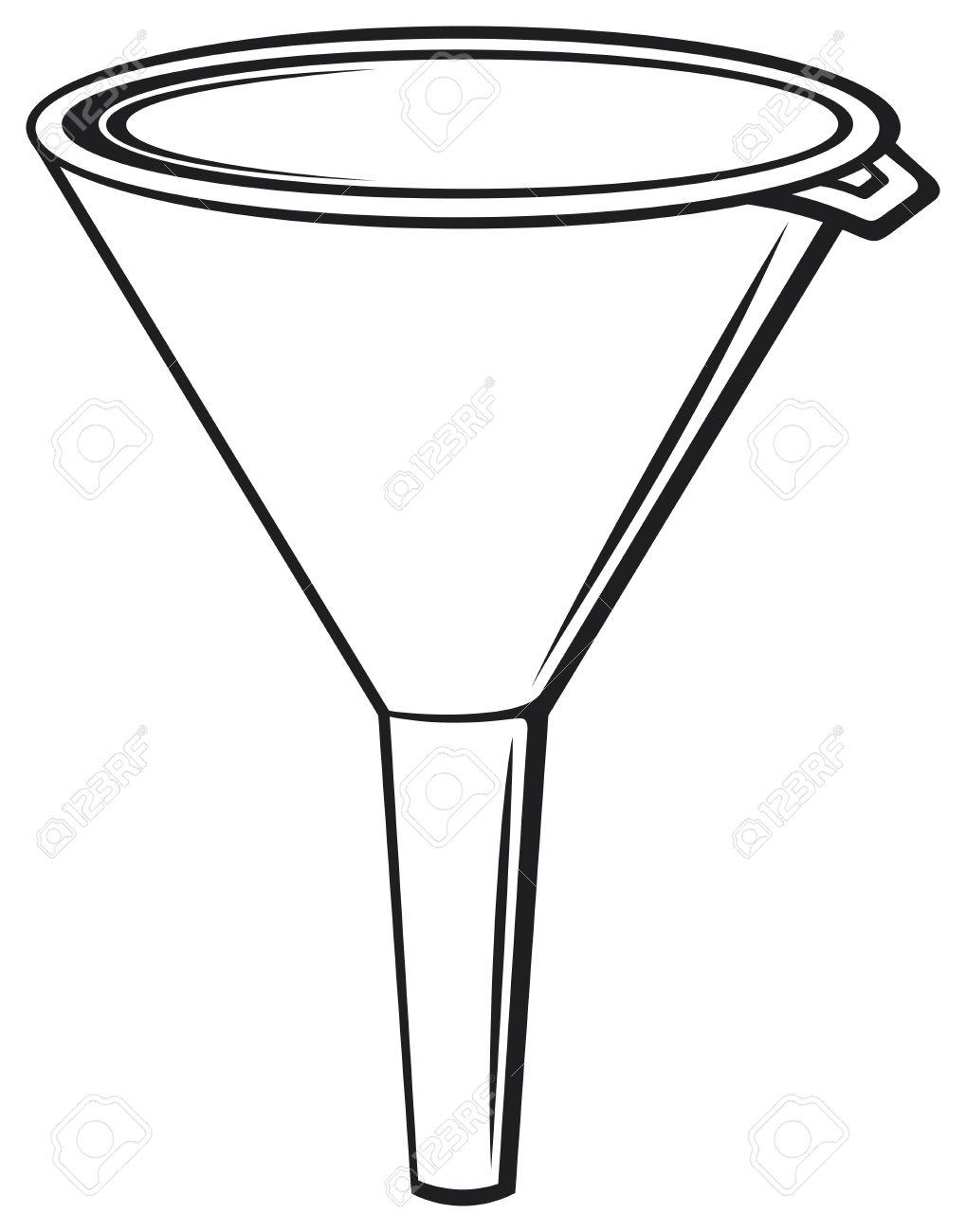 illustration of funnel plastic funnel for domestic use, plastic...