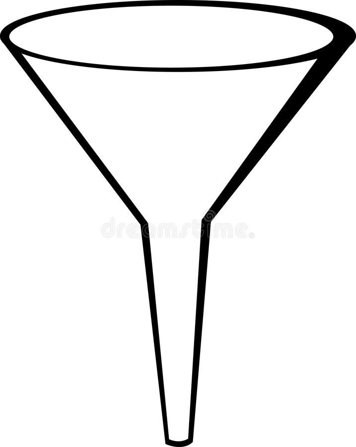 Vector Funnel Stock Illustrations.