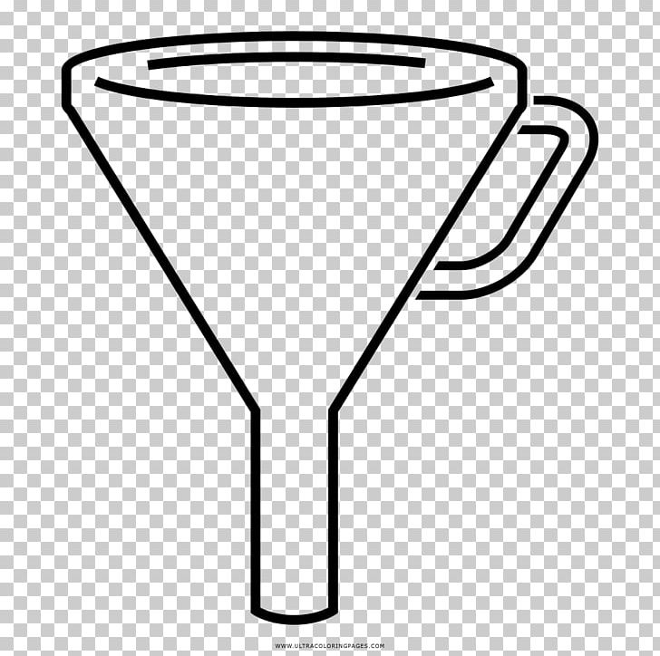 Drawing Coloring Book Funnel Black And White PNG, Clipart.