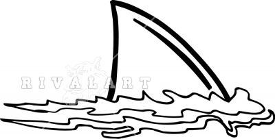 Fin clipart black and white 2 » Clipart Station.