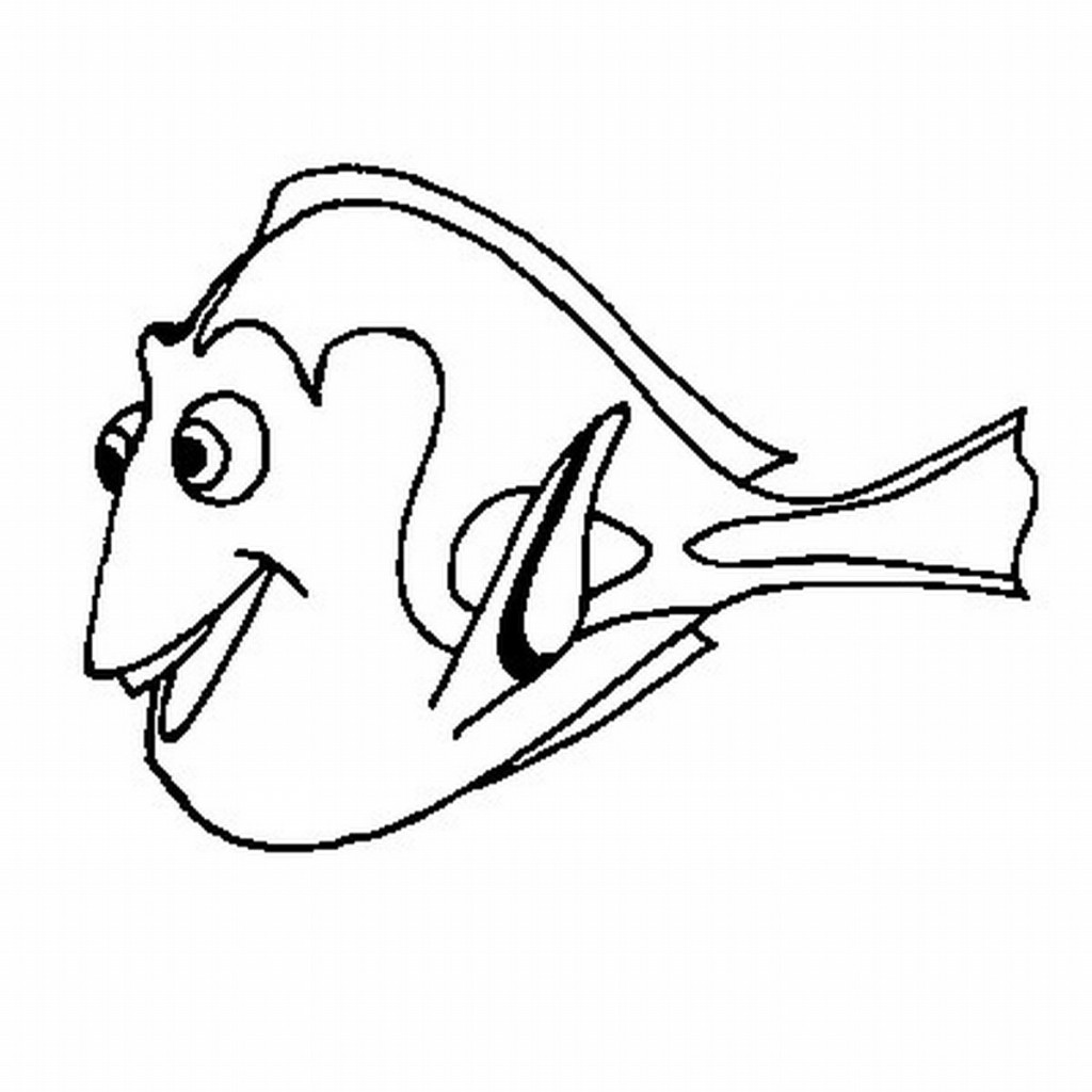Free Finding Dory Black And White, Download Free Clip Art.