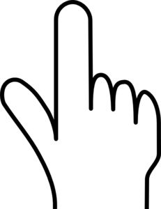 Pointing Finger Clipart Black And White.