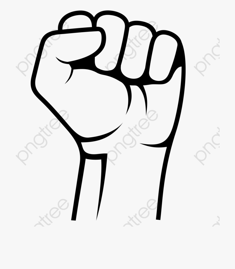 Fist Black And White Clipart , Transparent Cartoon, Free.