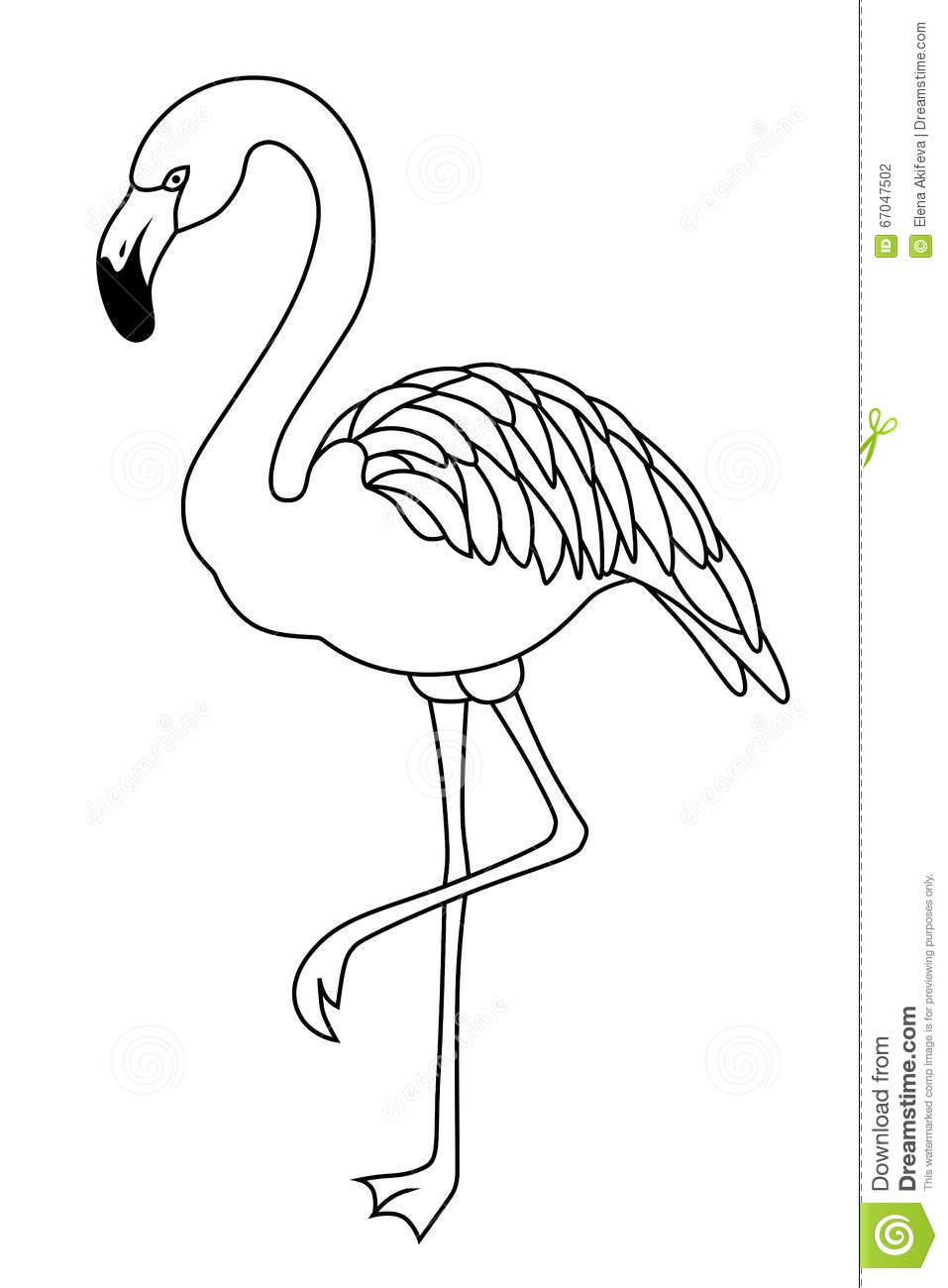 Flamingo Clipart Black And White.