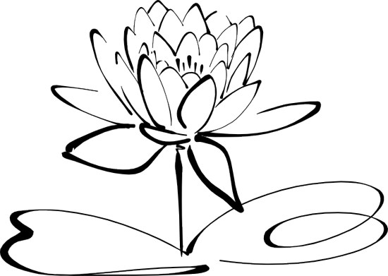 Clipart Flowers Black And White.