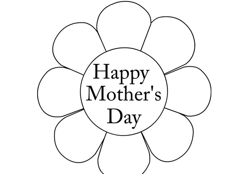 Mothers day clip art black and white.