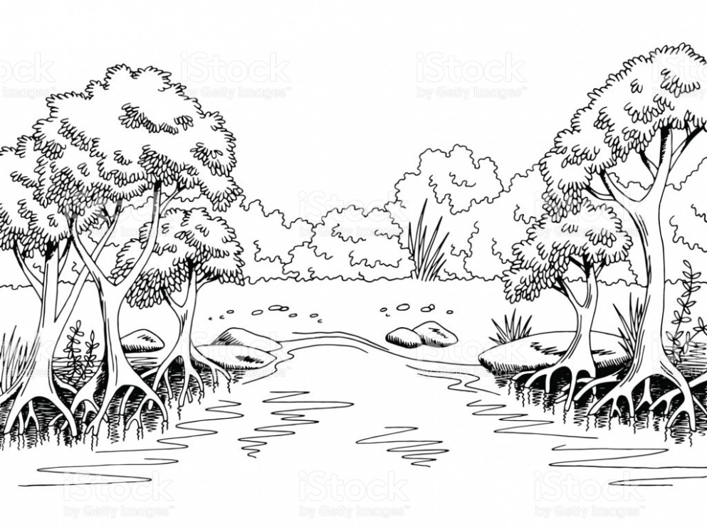 Forest black and white clipart 8 » Clipart Station.
