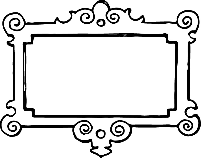 Frame Clip Art Black And White.