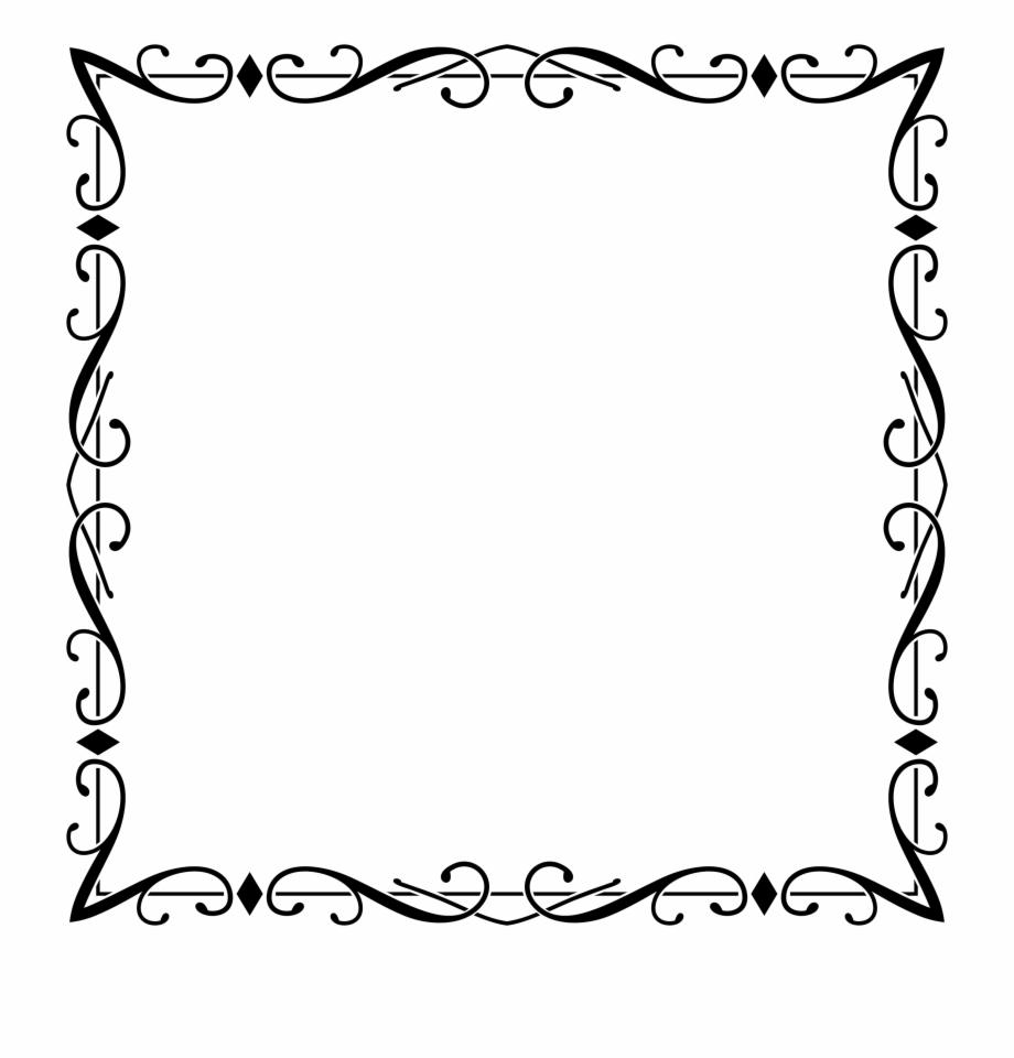 Clipart Fancy Elegant Frame Big Image Png.