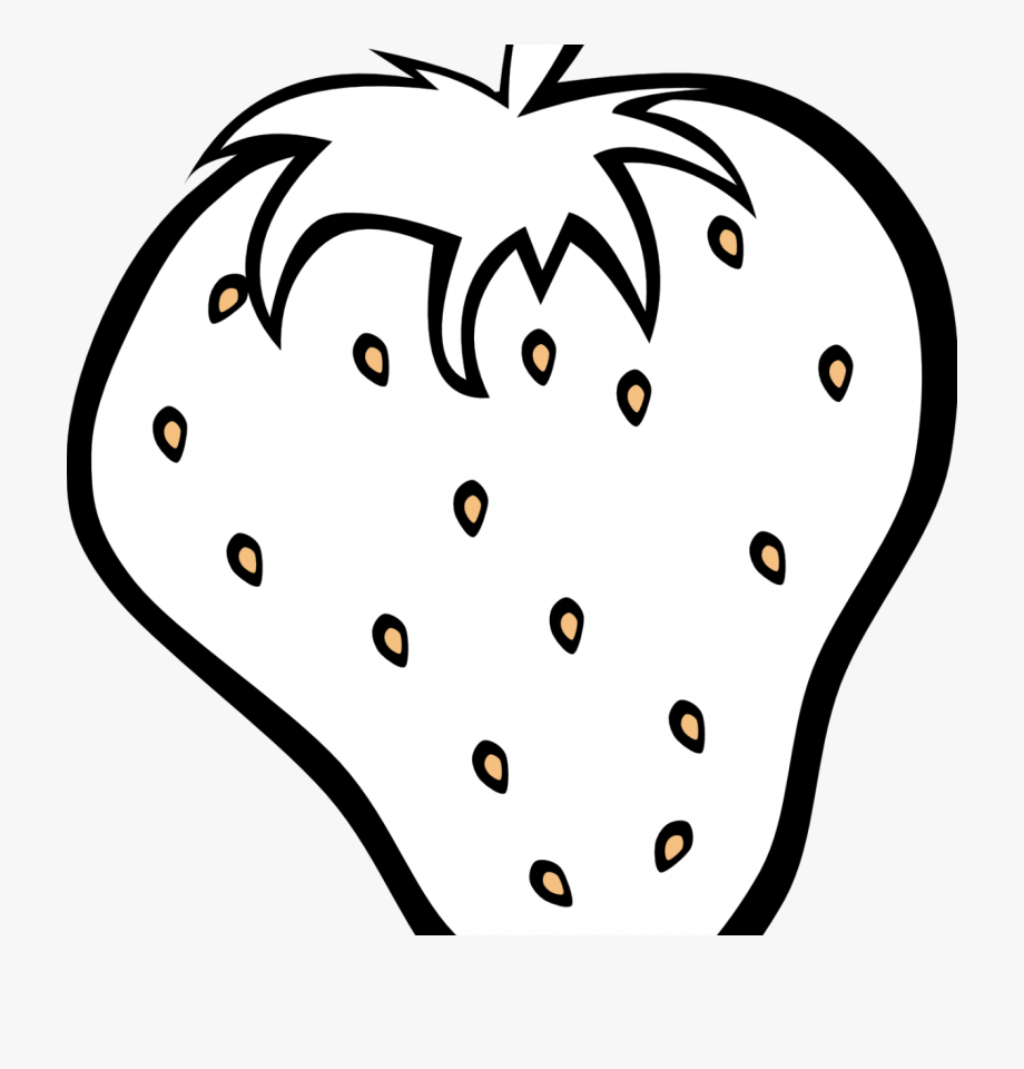 Strawberries Clipart Black And White.