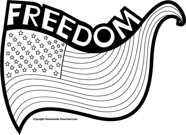 Freedom Clipart Black And White.
