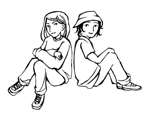 Friends Clip Art Black And White.