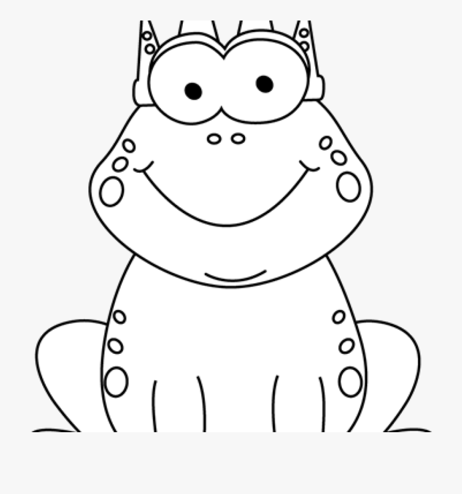 Frog Clipart Black And White Black And White Frog Clipart.