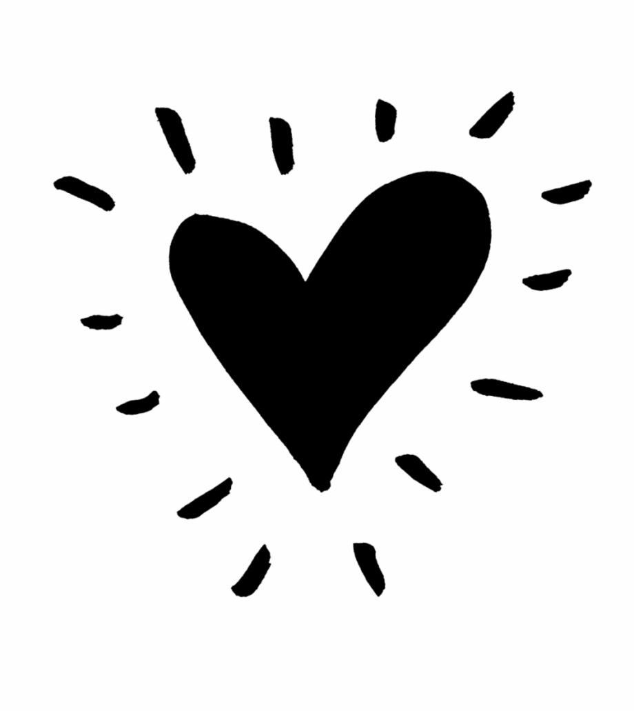 Heart Black Funky Heart Png.